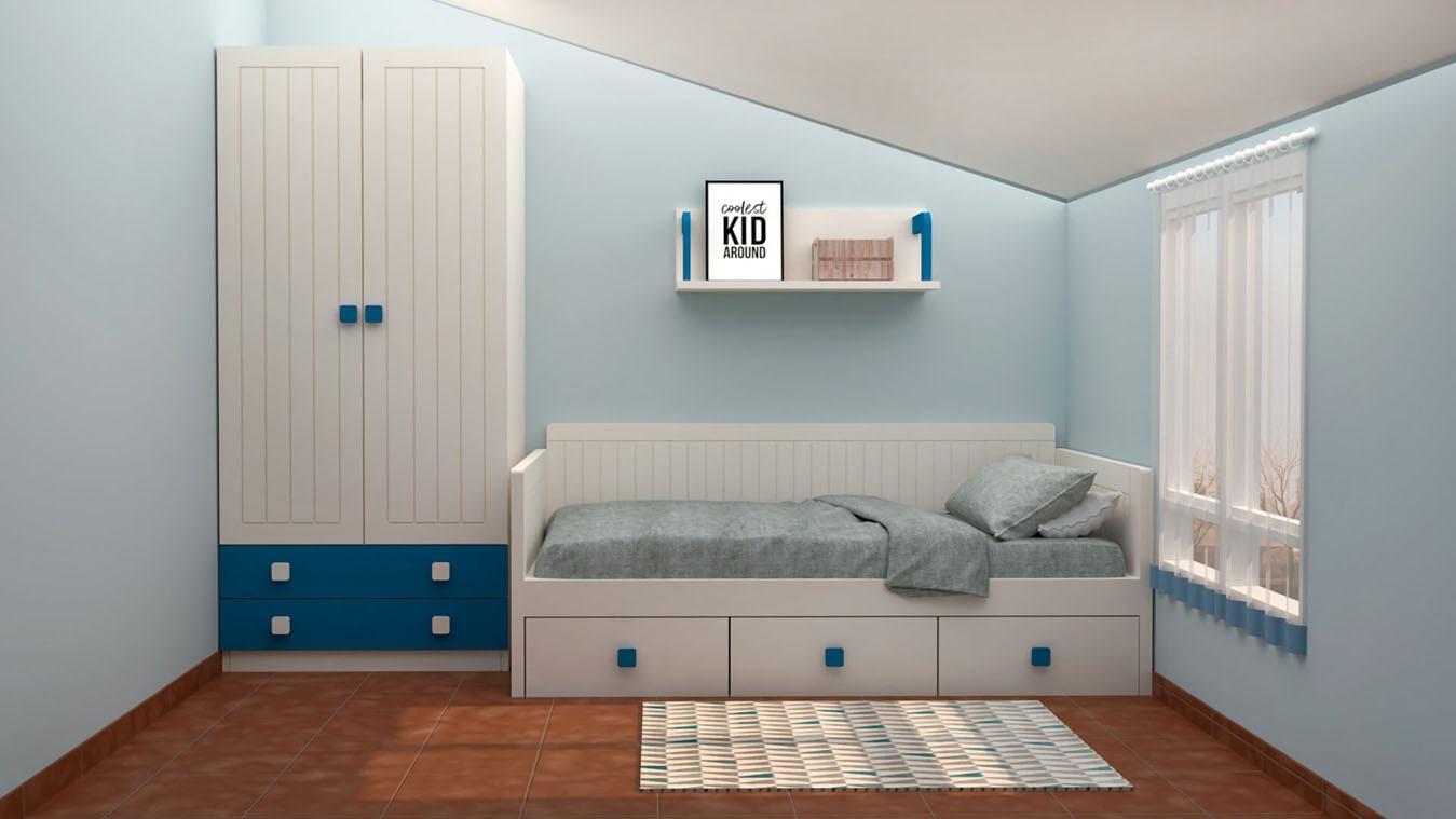 Dormitorio Juvenil CAMA NIDO - Ref: 0012