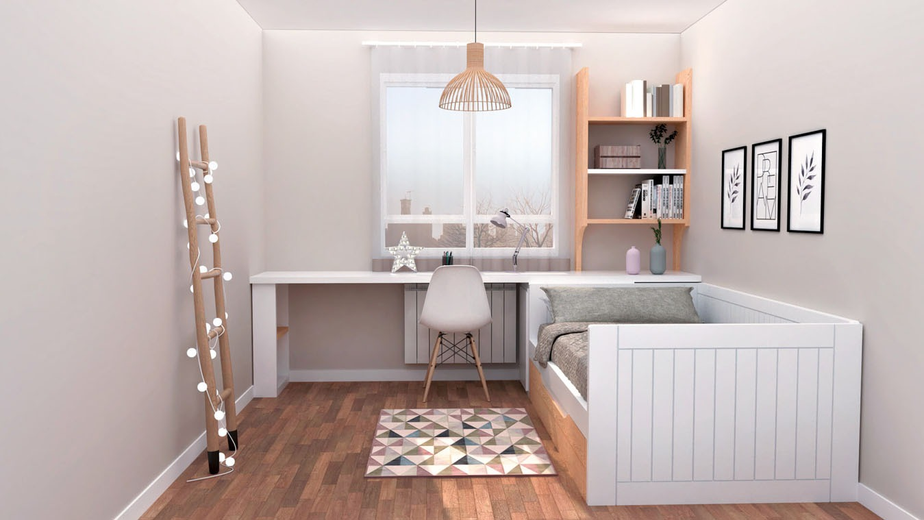 Dormitorio Juvenil CAMA NIDO - Ref: 0014
