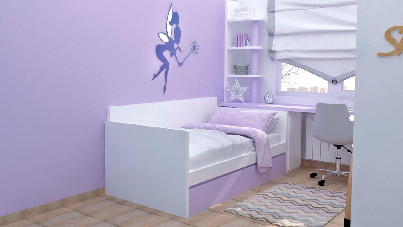 Dormitorio Juvenil CAMA NIDO - Ref: 0018