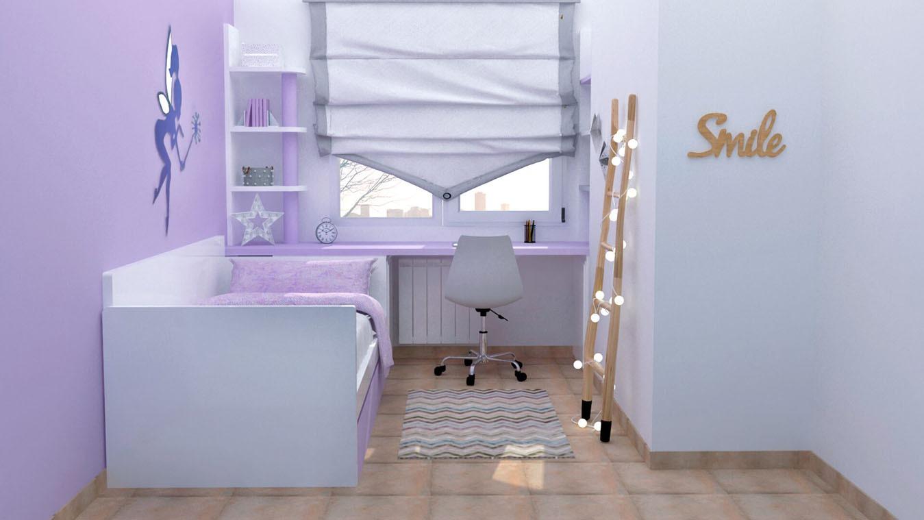 Dormitorio Juvenil CAMA NIDO - Ref: 0019