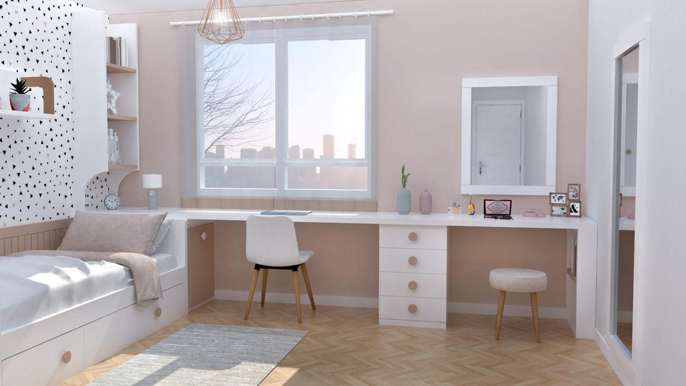 Dormitorio Juvenil CAMA NIDO - Ref: 0002