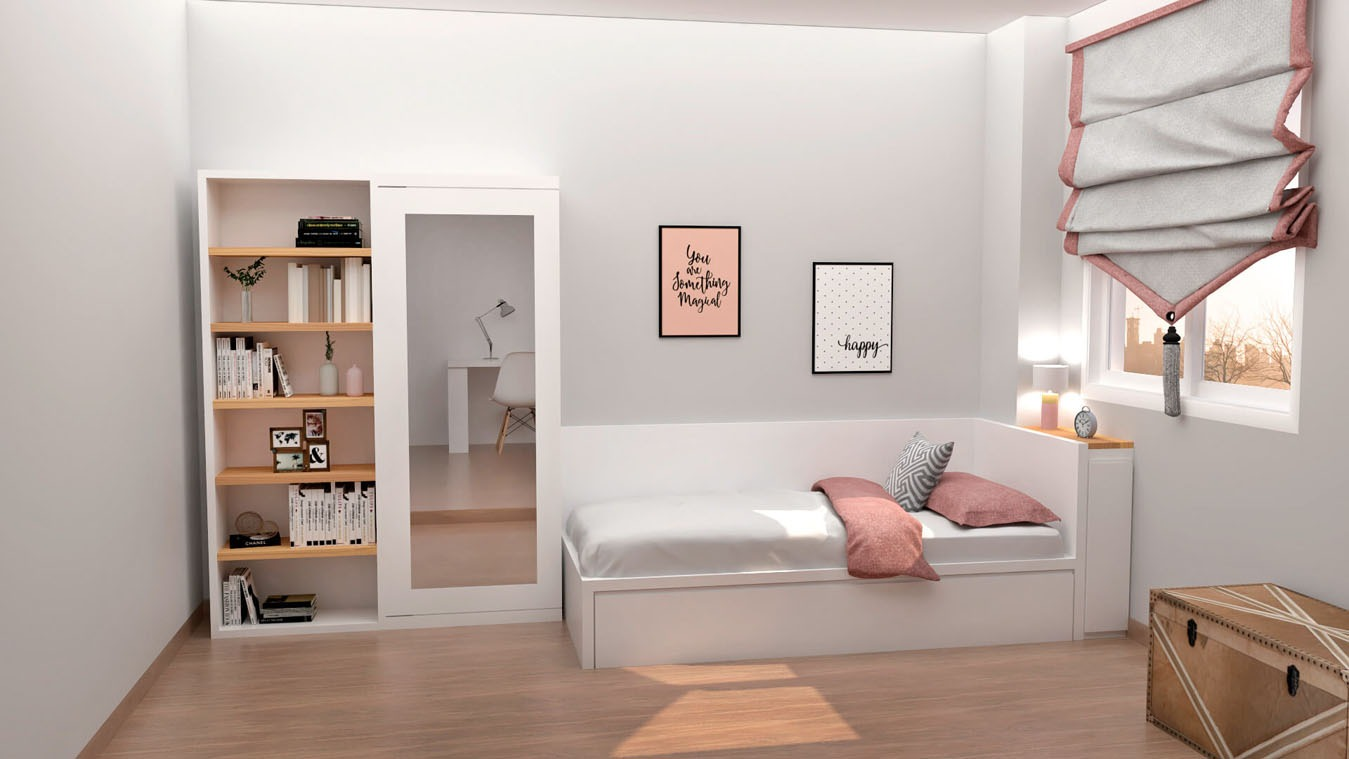 Dormitorio Juvenil CAMA NIDO - Ref: 0020
