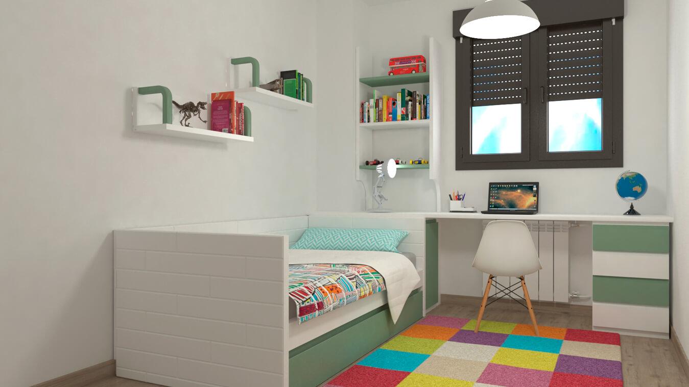 Dormitorio Juvenil CAMA NIDO - Ref: 0024