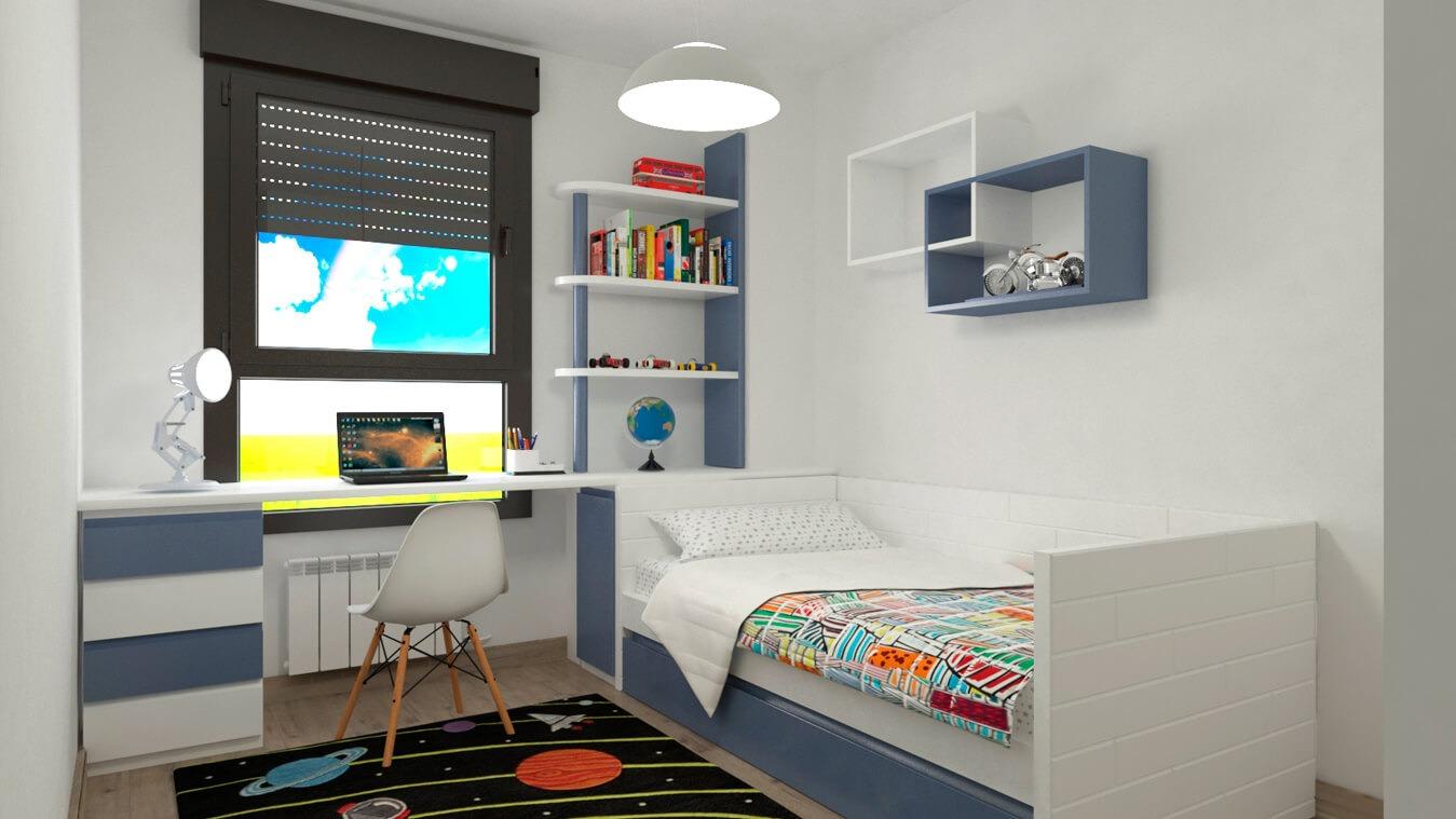 Dormitorio Juvenil CAMA NIDO - Ref: 0025