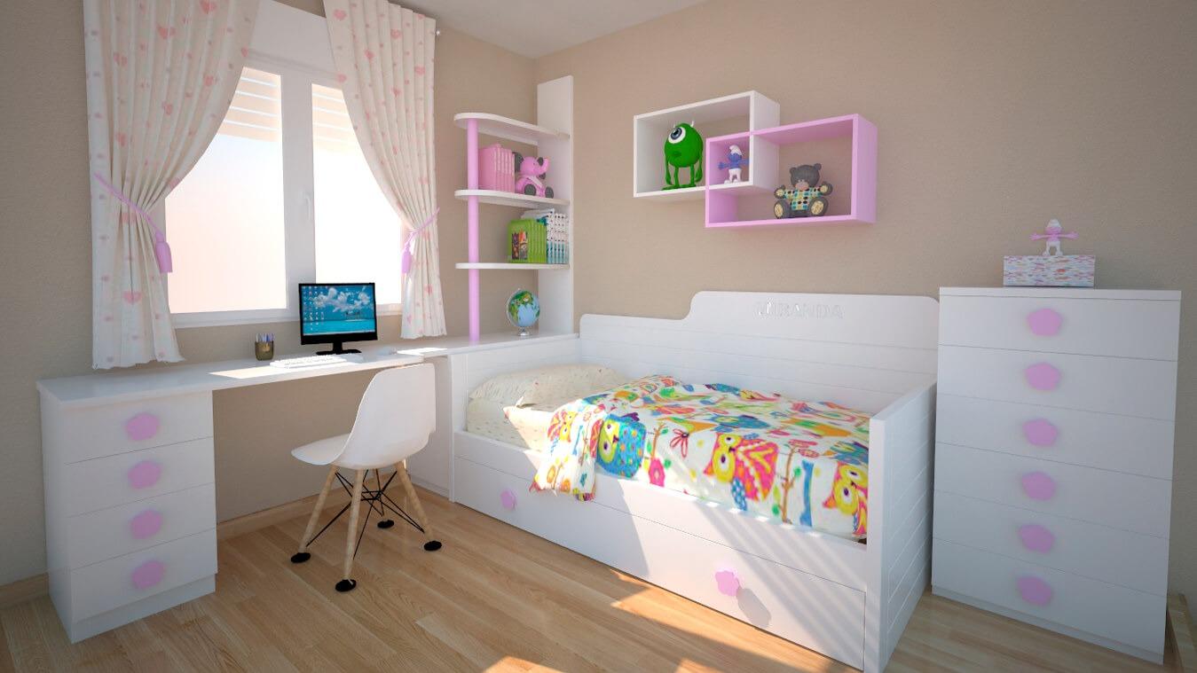 Dormitorio Juvenil CAMA NIDO - Ref: 0027