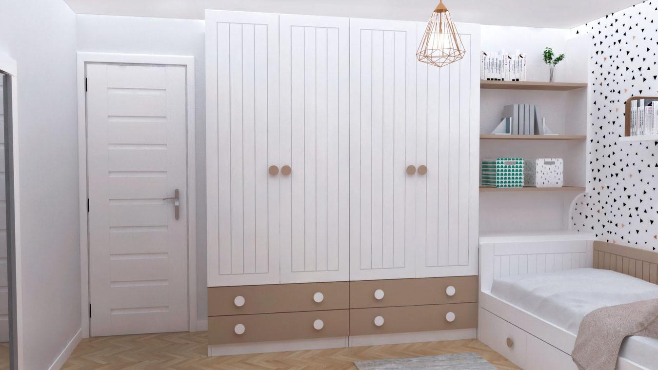 Dormitorio Juvenil CAMA NIDO - Ref: 0003