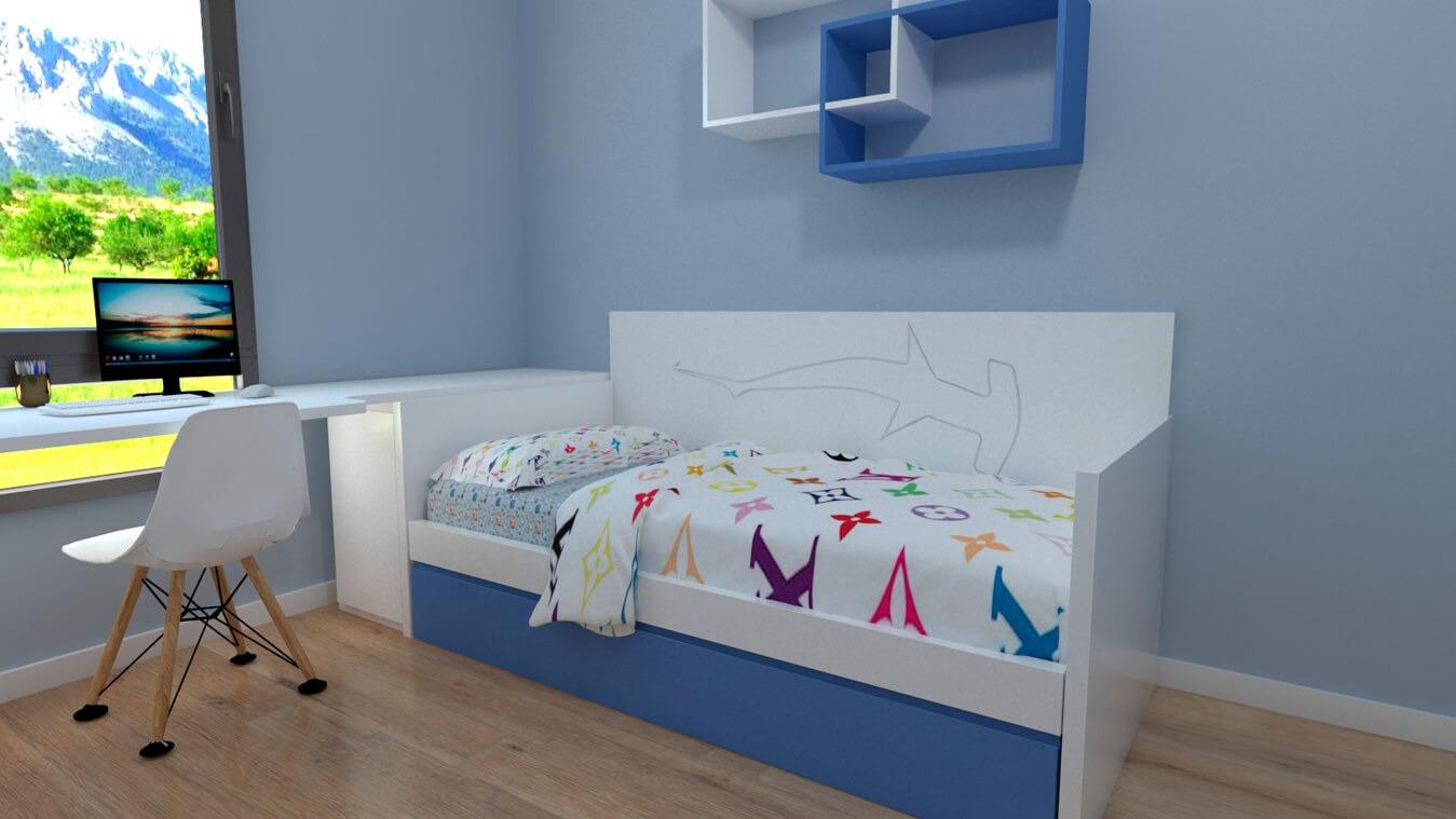 Dormitorio Juvenil CAMA NIDO - Ref: 0031