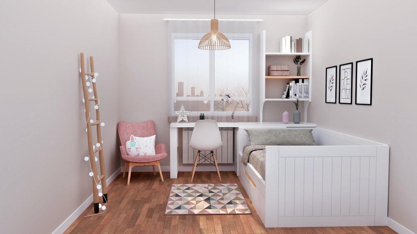 Dormitorio Juvenil CAMA NIDO - Ref: 0004