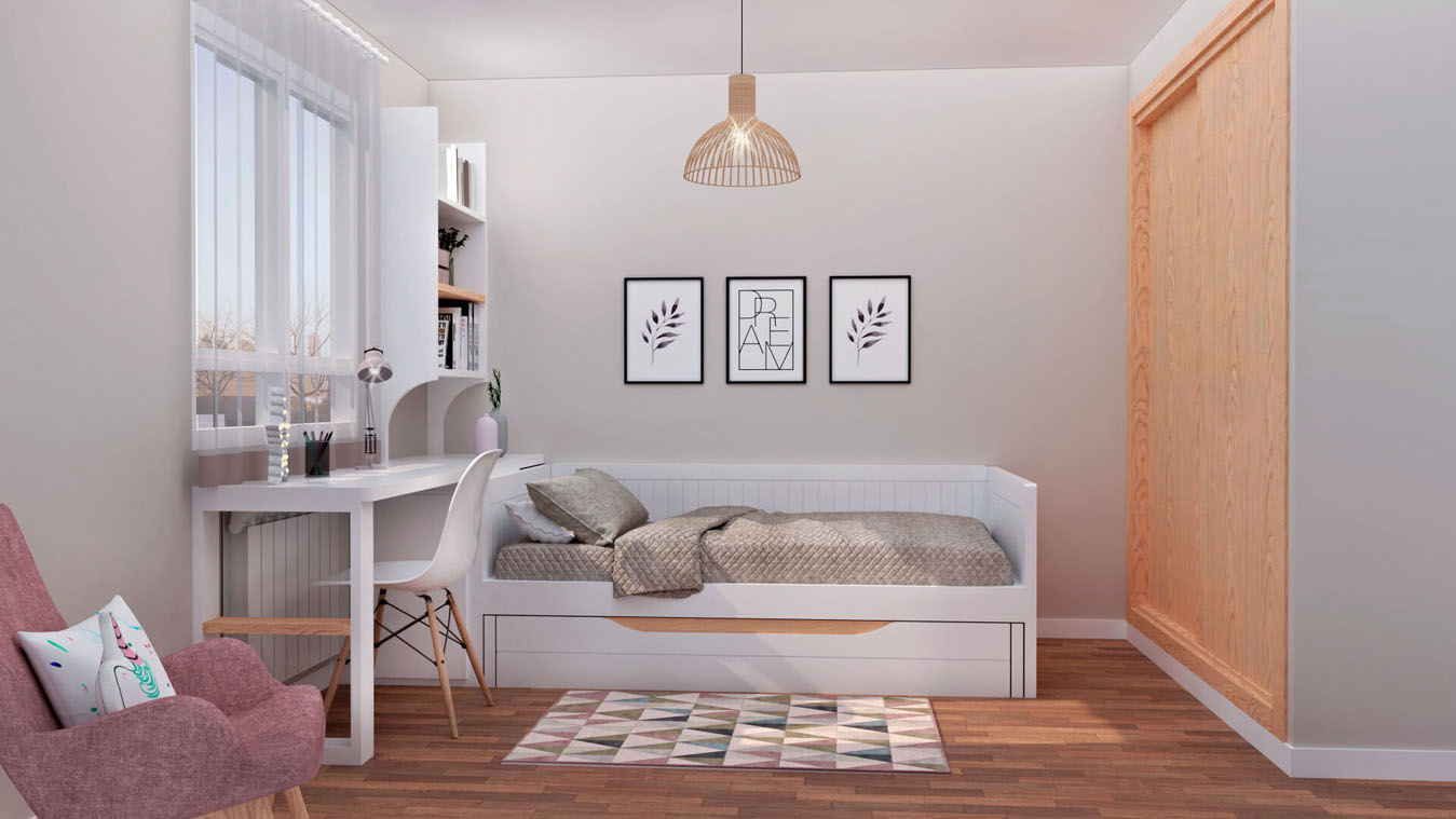 Dormitorio Juvenil CAMA NIDO - Ref: 0005