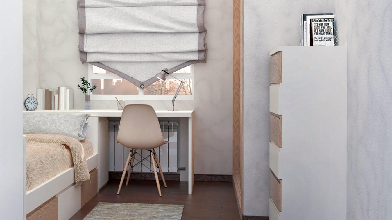 Dormitorio Juvenil CAMA NIDO - Ref: 0009