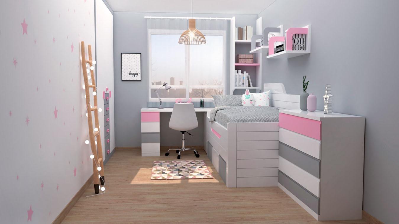 Dormitorio Juvenil COMPARTO - Ref: 0001