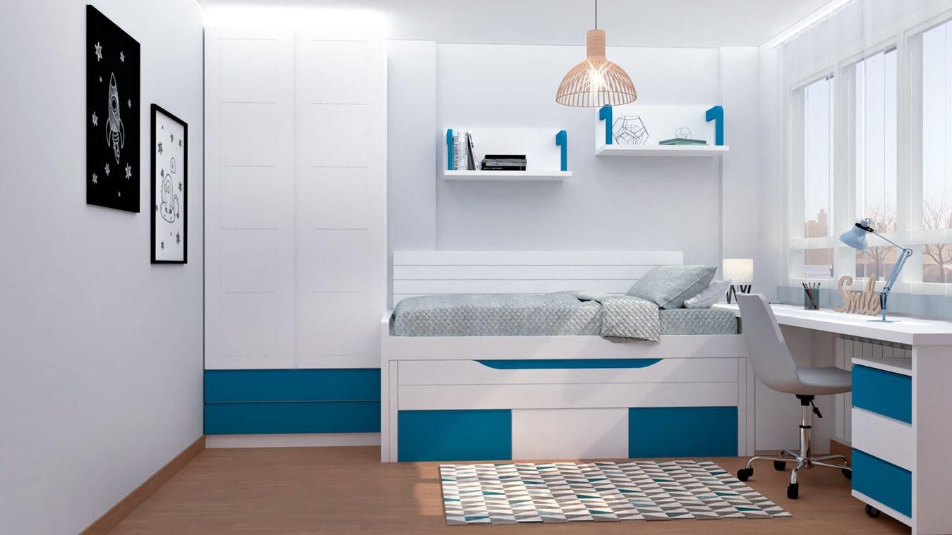 Dormitorio Juvenil COMPARTO - Ref: 0010