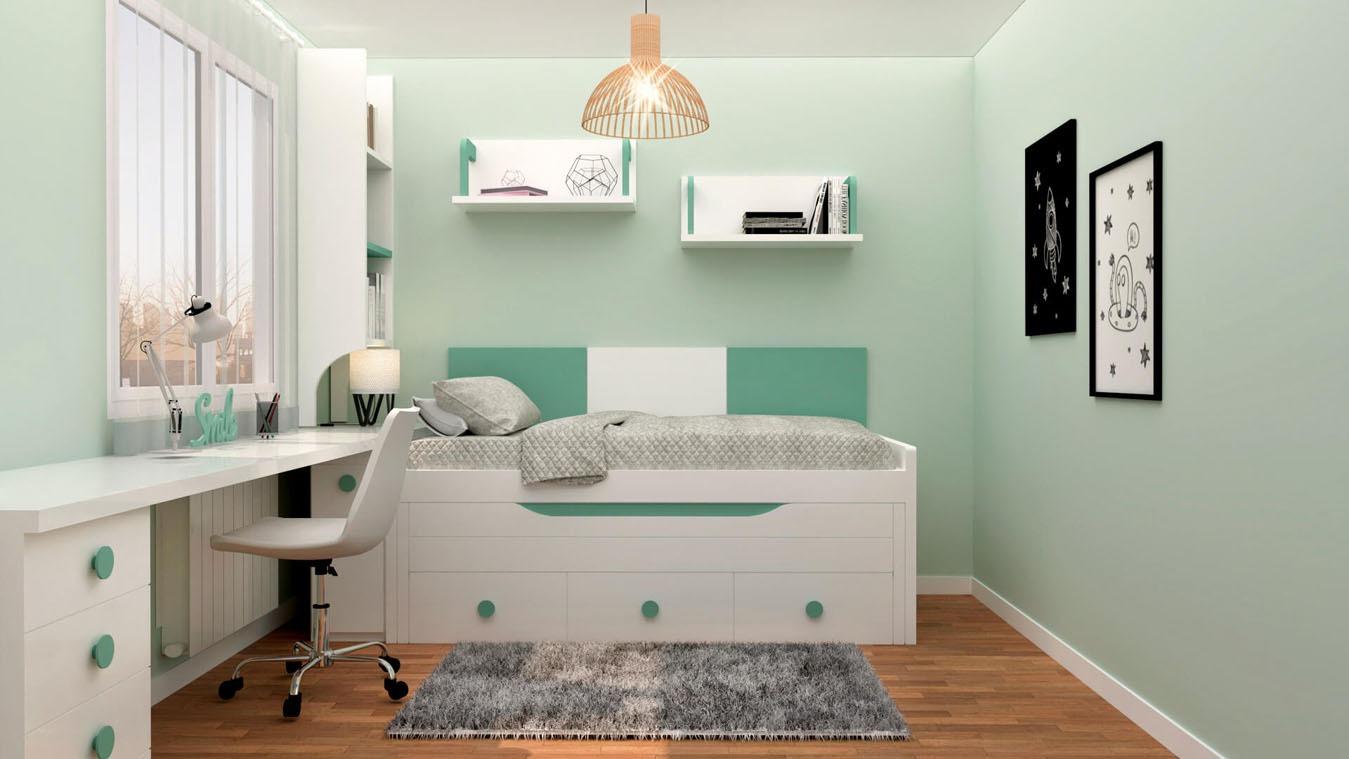 Dormitorio Juvenil COMPARTO - Ref: 0012