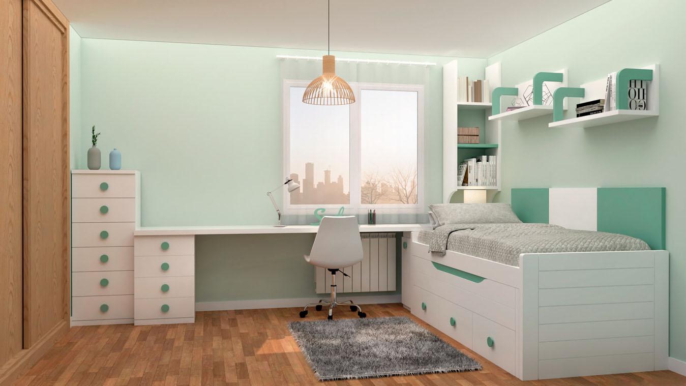 Dormitorio Juvenil COMPARTO - Ref: 0013