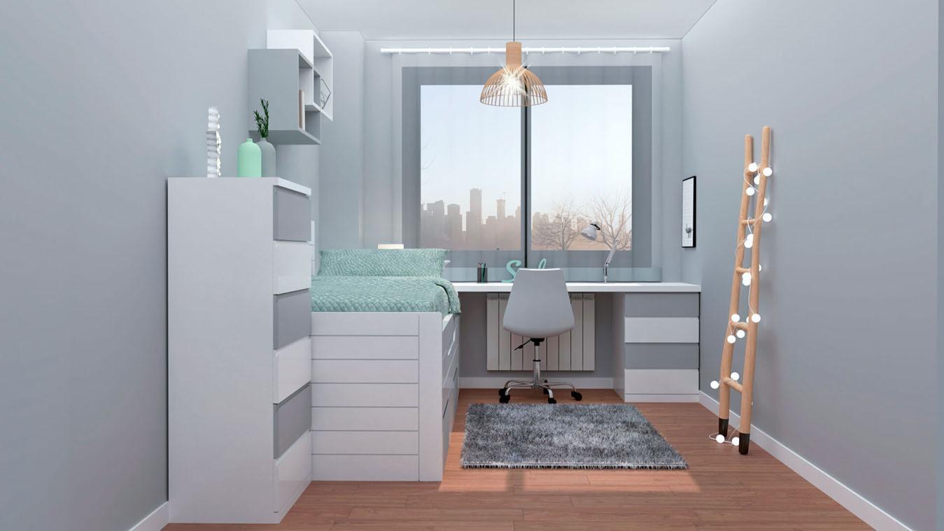 Dormitorio Juvenil COMPARTO - Ref: 0014