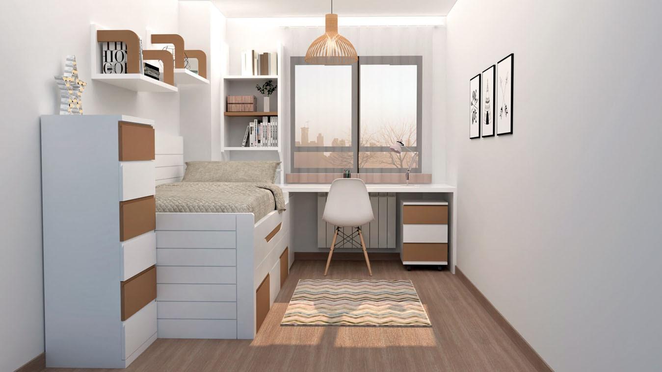 Dormitorio Juvenil COMPARTO - Ref: 0016