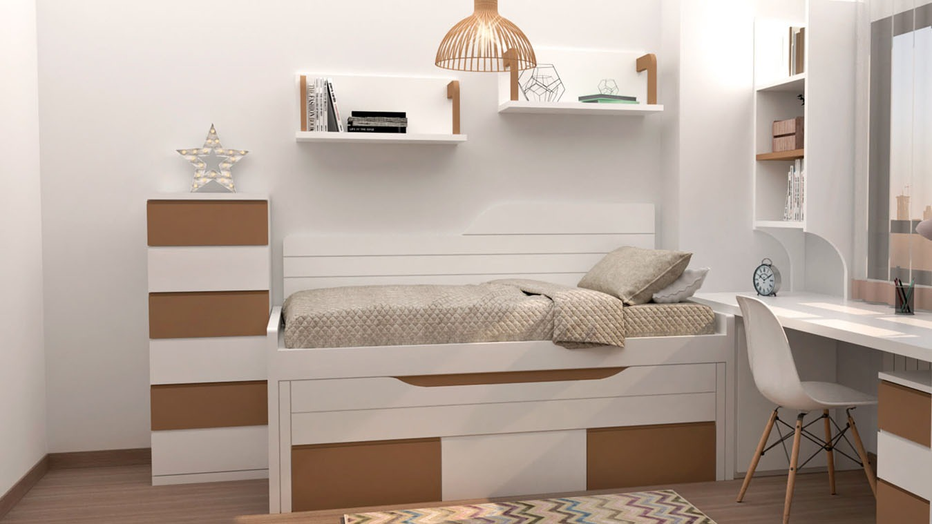 Dormitorio Juvenil COMPARTO - Ref: 0017