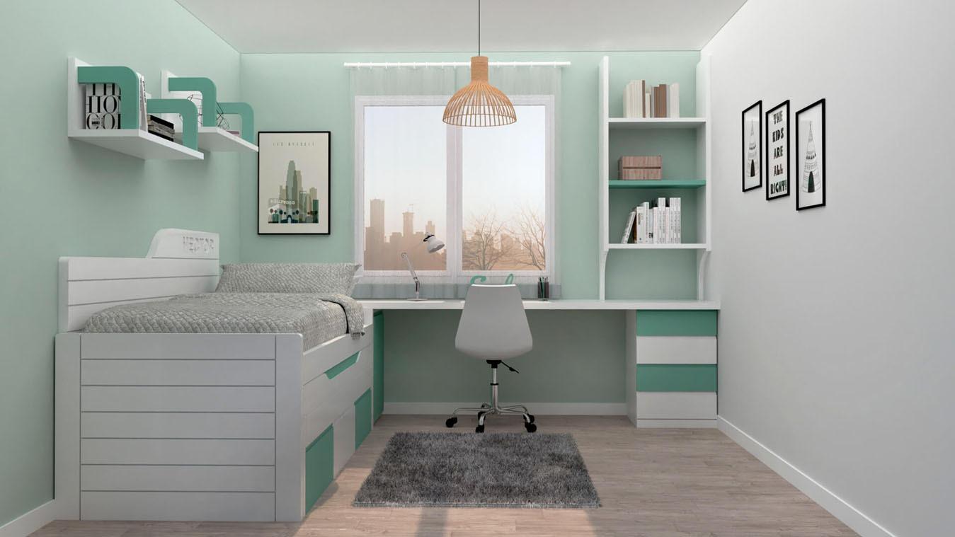 Dormitorio Juvenil COMPARTO - Ref: 0018