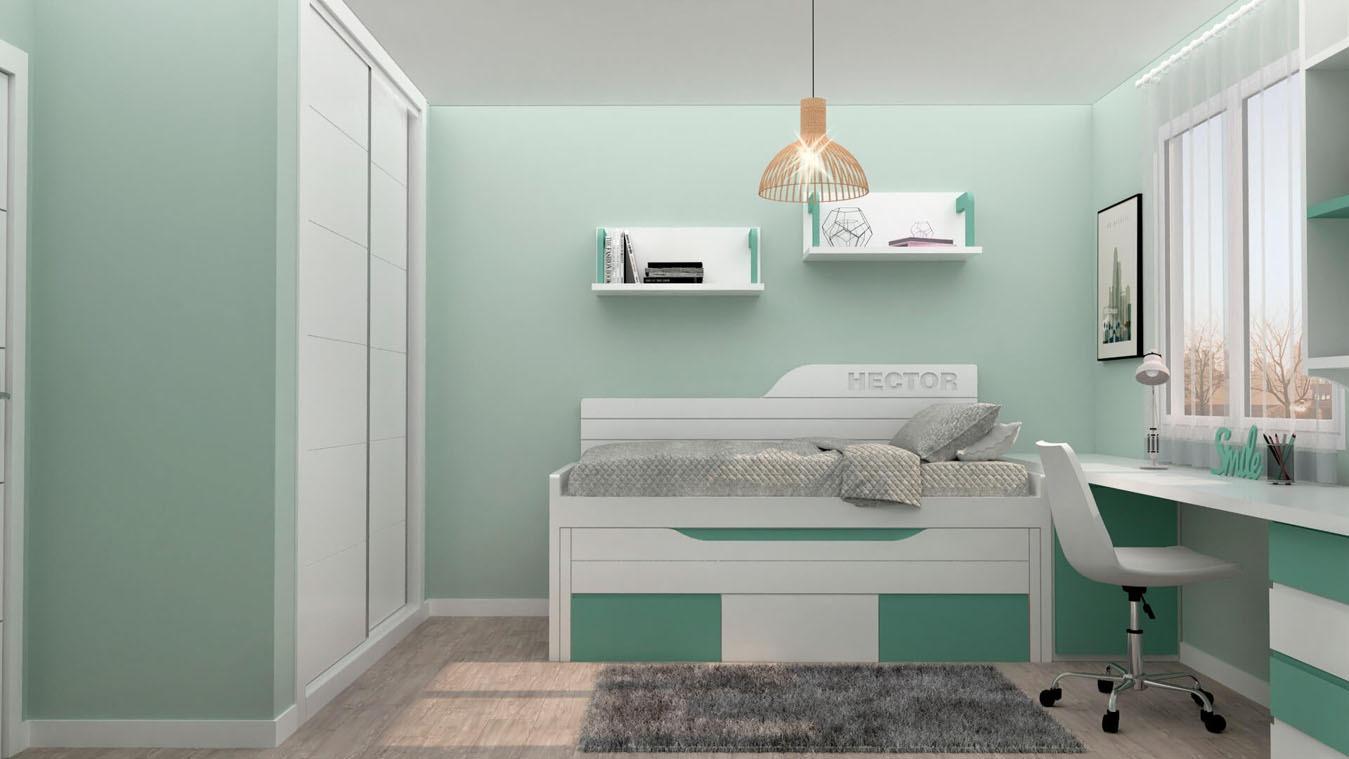 Dormitorio Juvenil COMPARTO - Ref: 0019