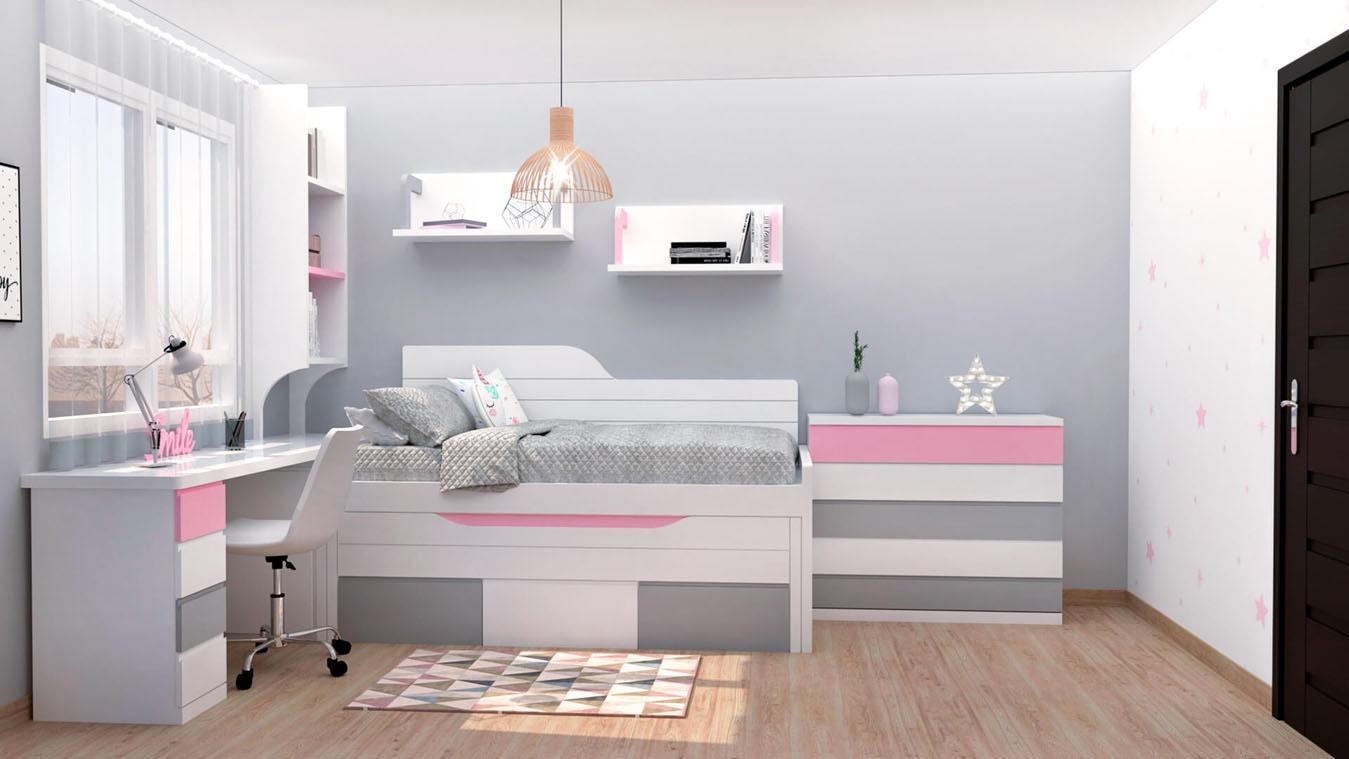 Dormitorio Juvenil COMPARTO - Ref: 0002