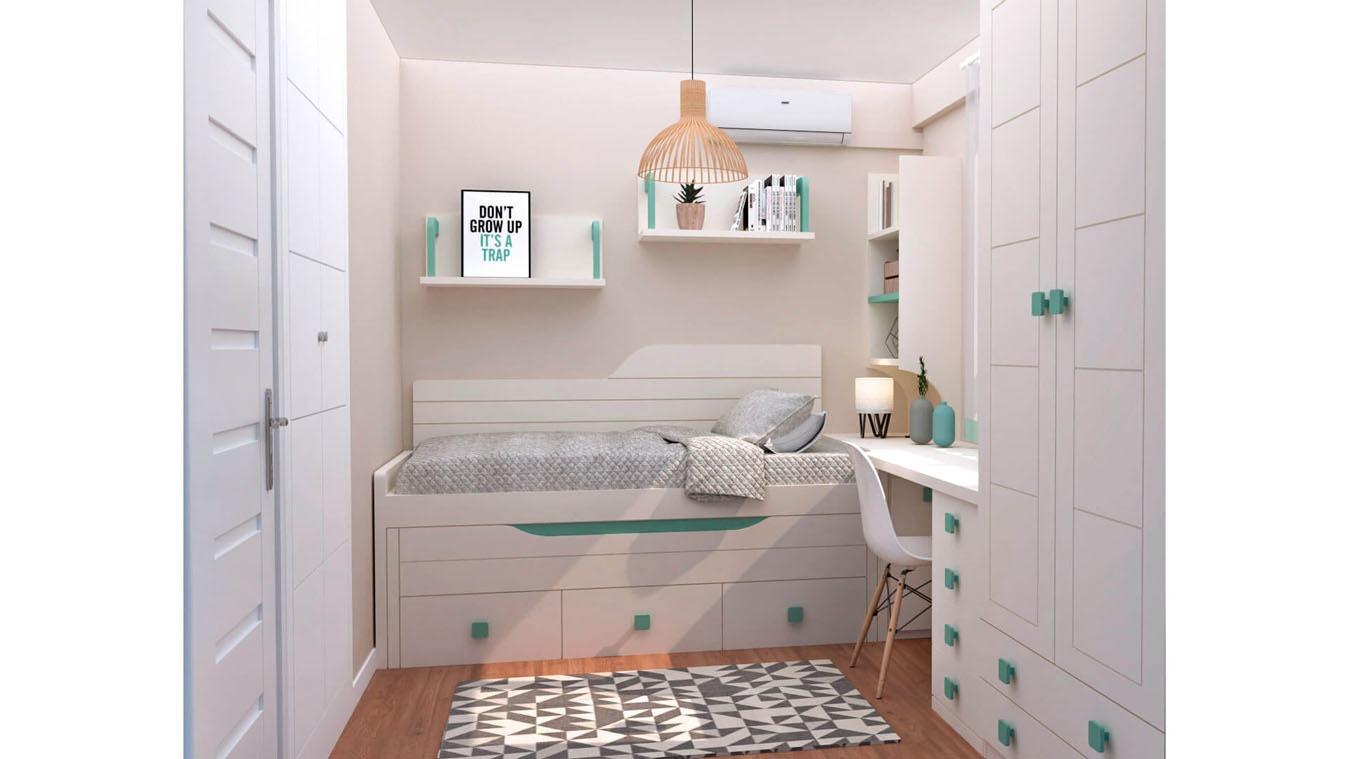 Dormitorio Juvenil COMPARTO - Ref: 0023
