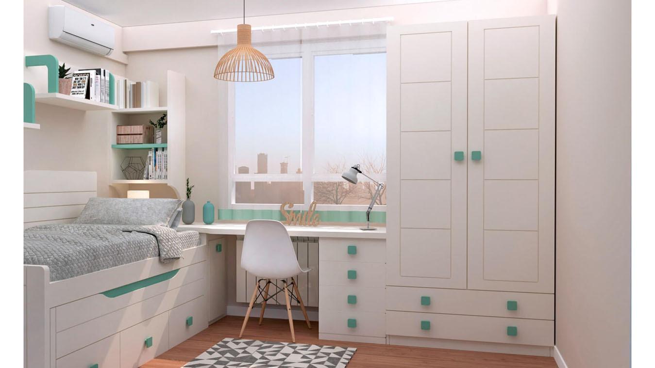 Dormitorio Juvenil COMPARTO - Ref: 0024