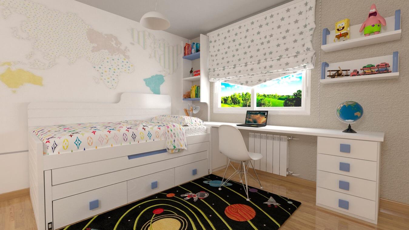 Dormitorio Juvenil COMPARTO - Ref: 0029