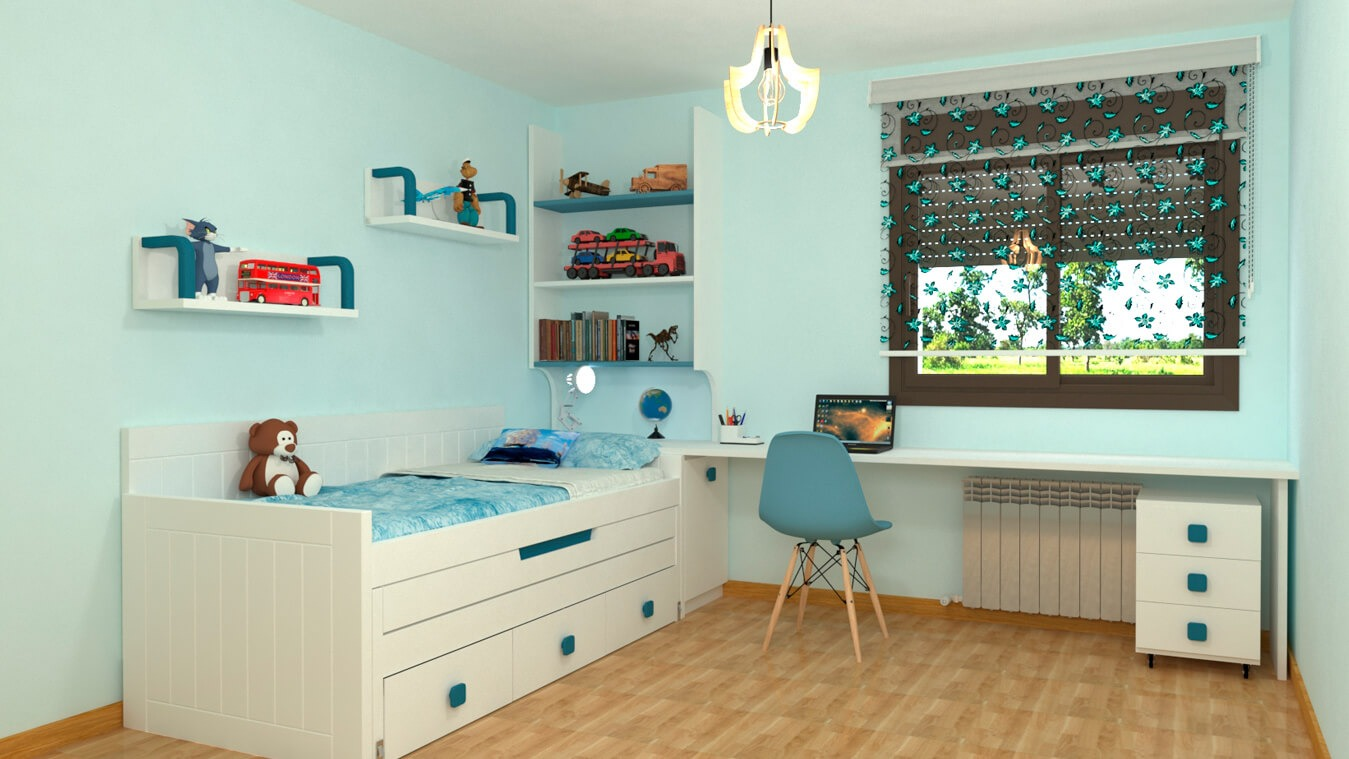 Dormitorio Juvenil COMPARTO - Ref: 0031