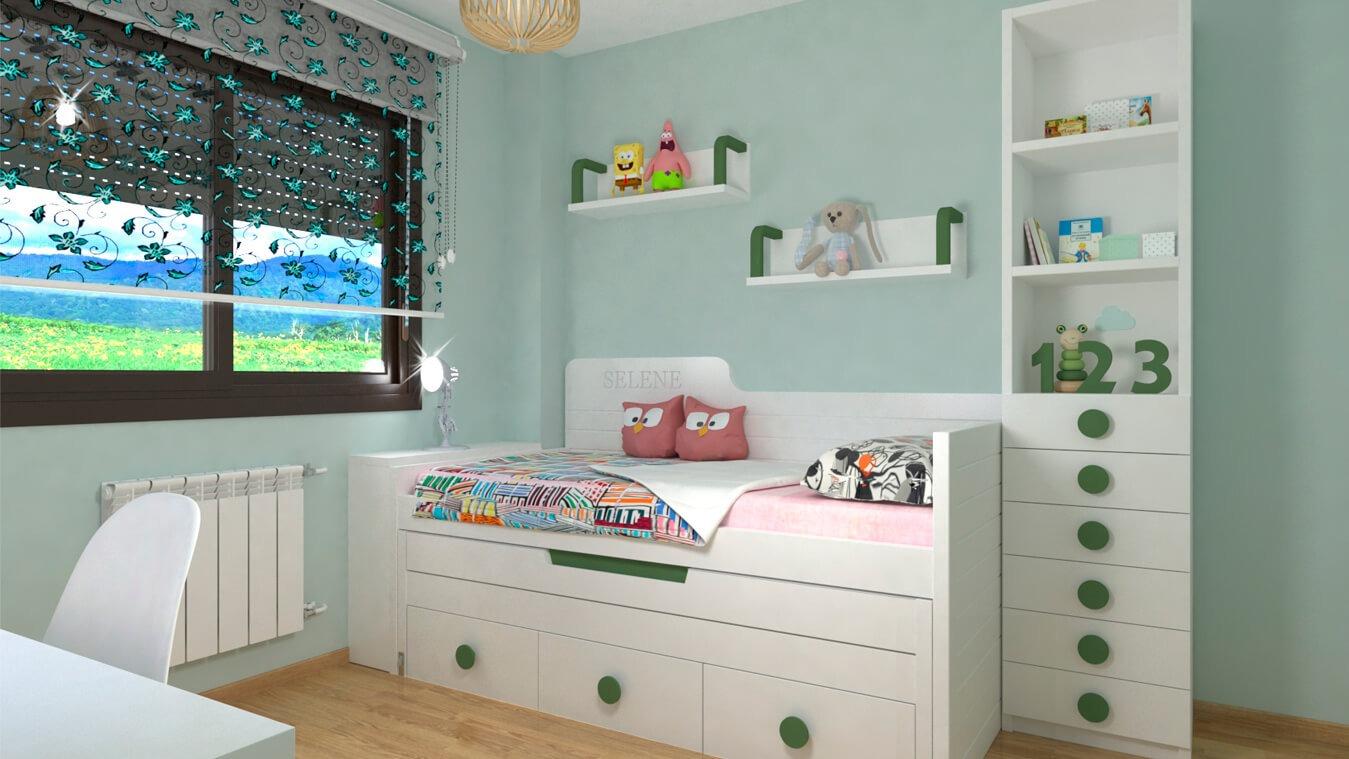 Dormitorio Juvenil COMPARTO - Ref: 0032