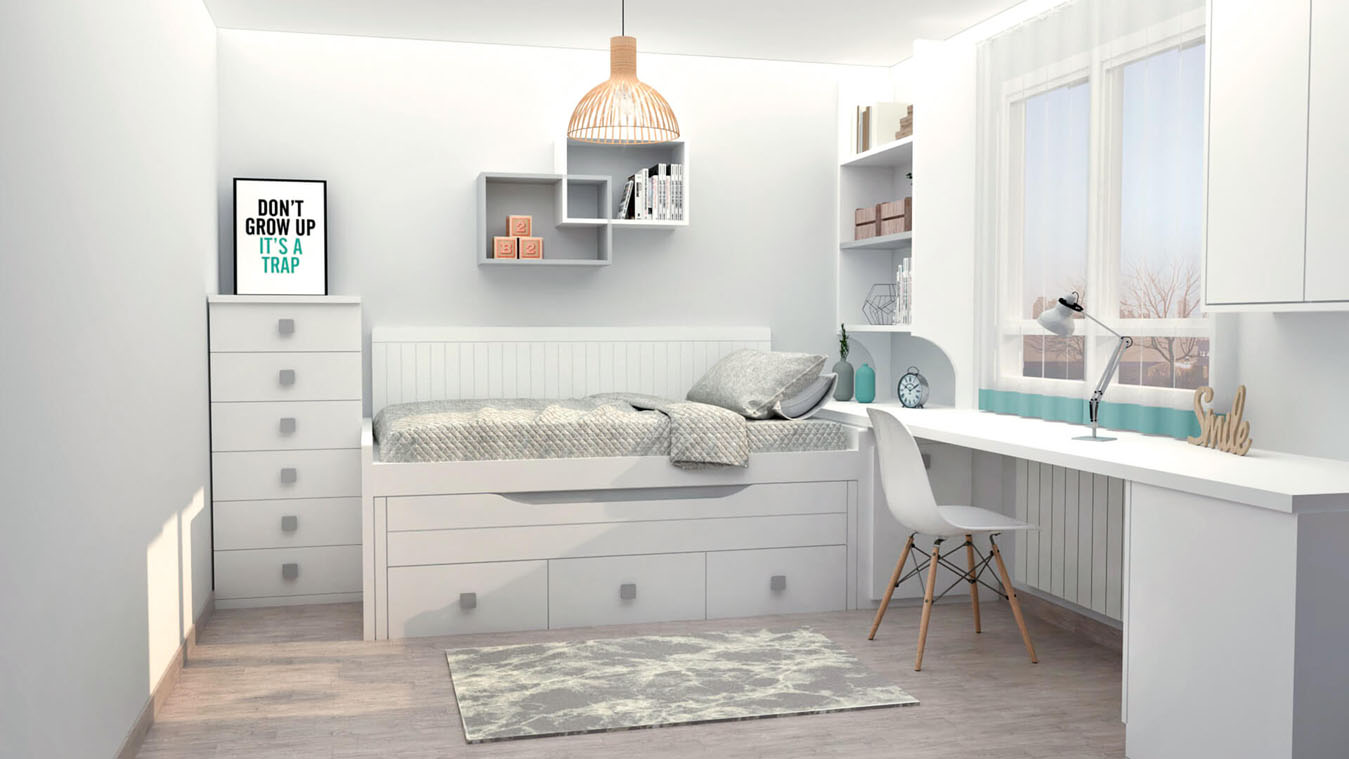 Dormitorio Juvenil COMPARTO - Ref: 0004