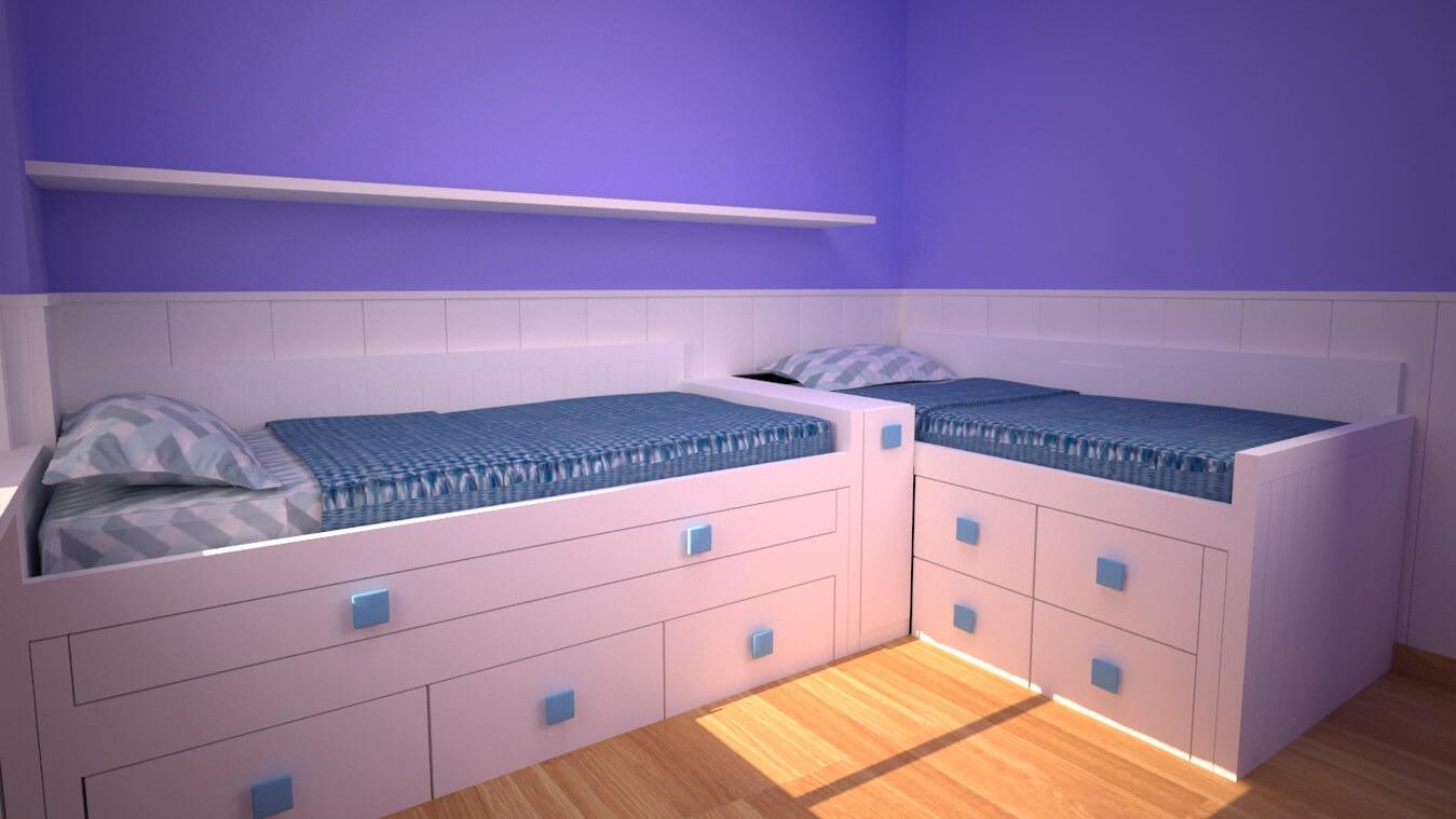 Dormitorio Juvenil COMPARTO - Ref: 0048