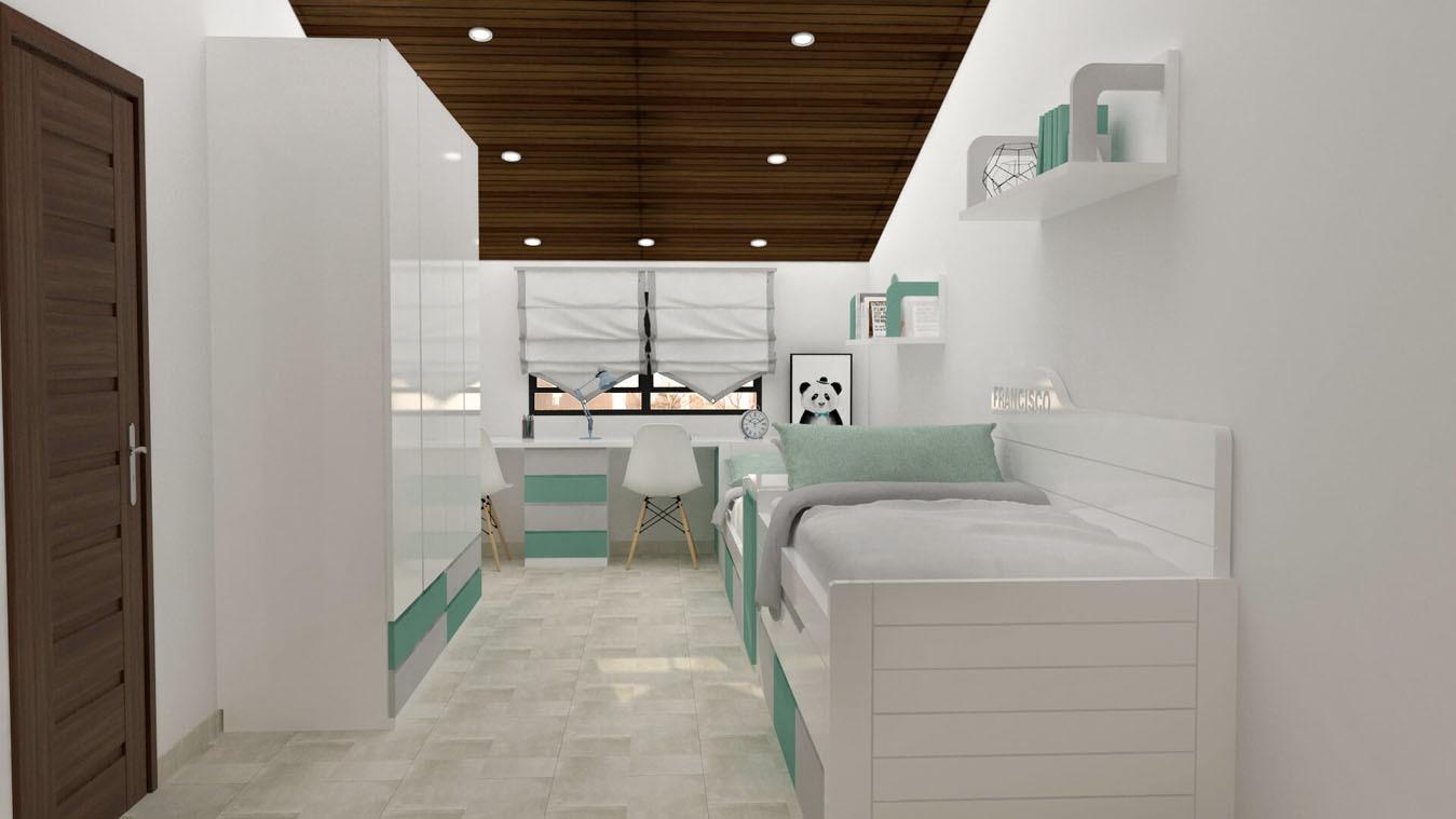 Dormitorio Juvenil COMPARTO - Ref: 0007