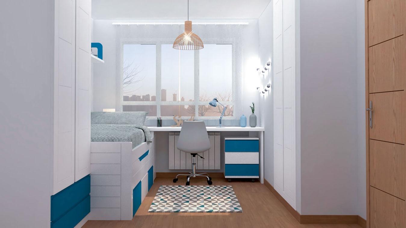 Dormitorio Juvenil COMPARTO - Ref: 0009