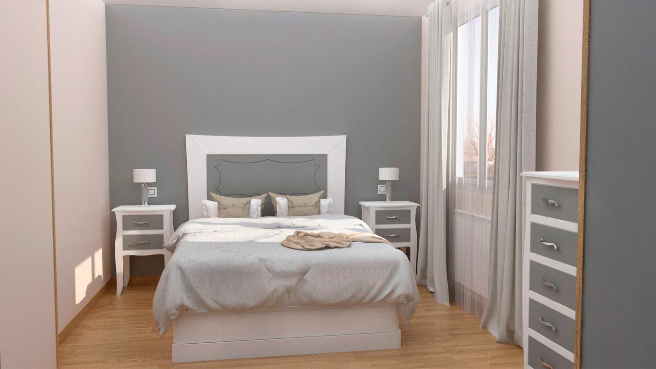 Dormitorio modelo LUIS XV - Ref: 0001