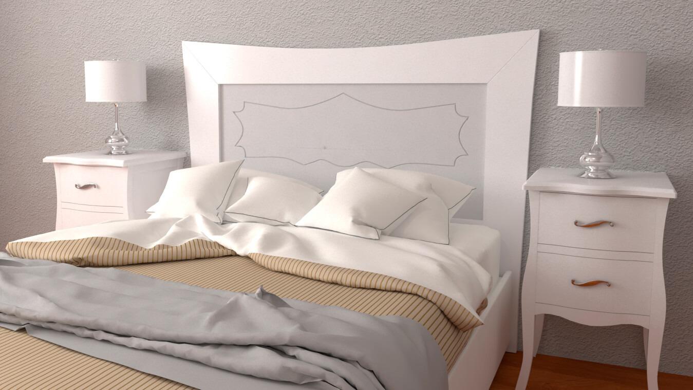 Dormitorio modelo LUIS XV - Ref: 0012