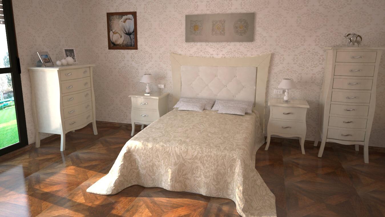 Dormitorio modelo LUIS XV - Ref: 0013