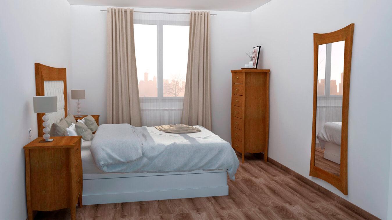 Dormitorio modelo LUIS XV - Ref: 0004