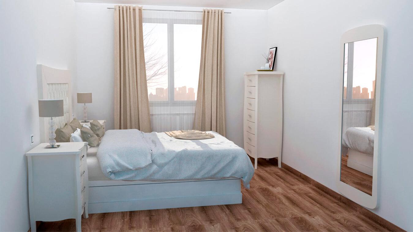 Dormitorio modelo LUIS XV - Ref: 0008
