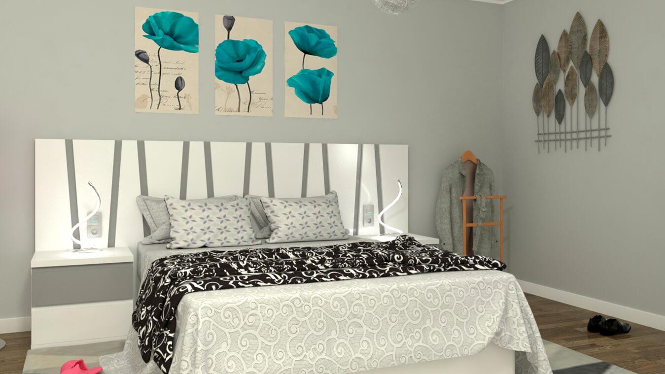 Dormitorio modelo MODERNO KANSAS - Ref: 0014