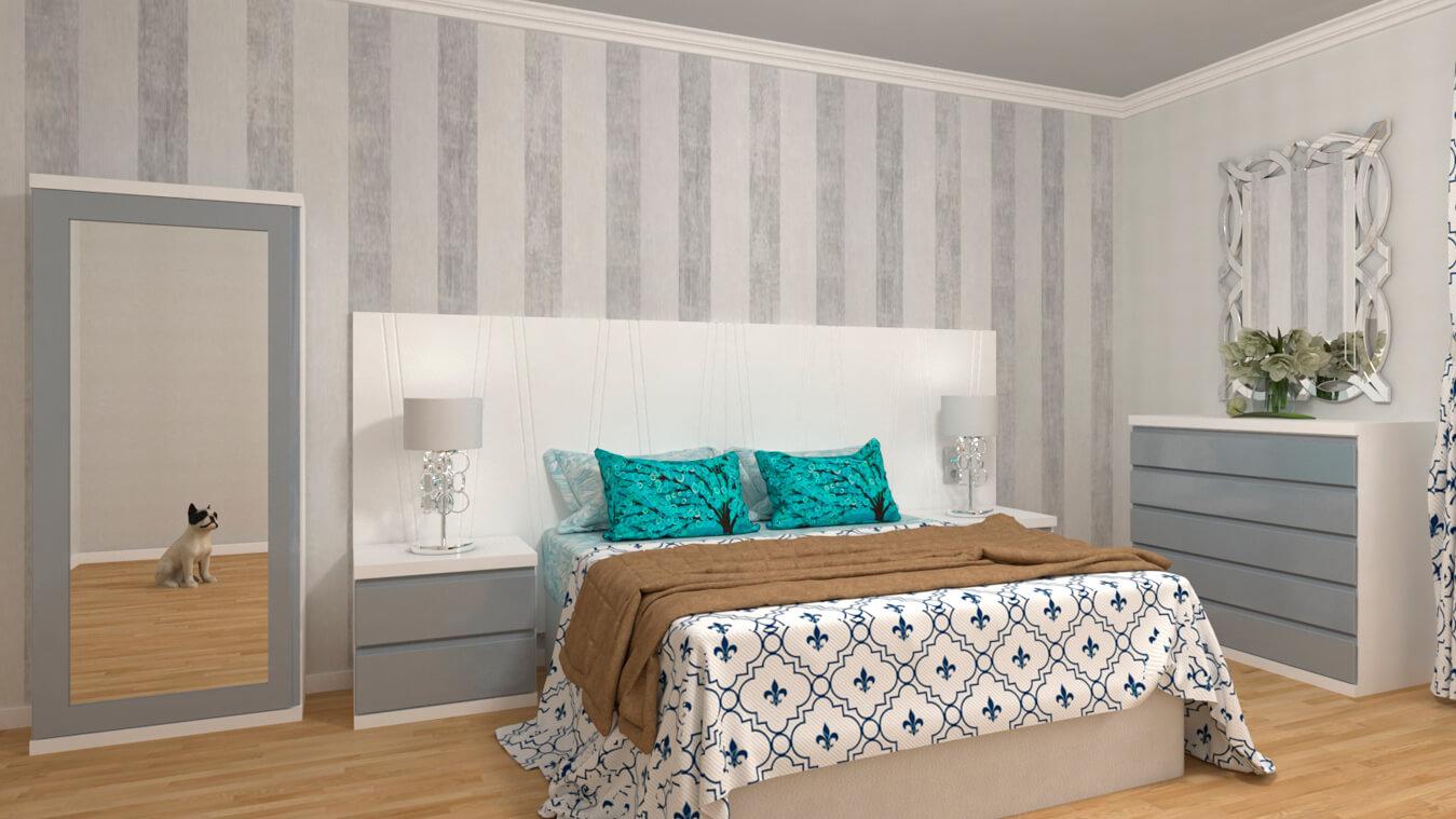 Dormitorio modelo MODERNO KANSAS - Ref: 0015