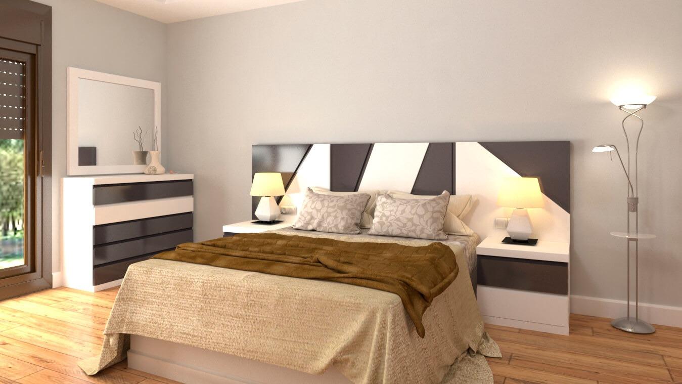 Dormitorio modelo MODERNO ROMY - Ref: 0024