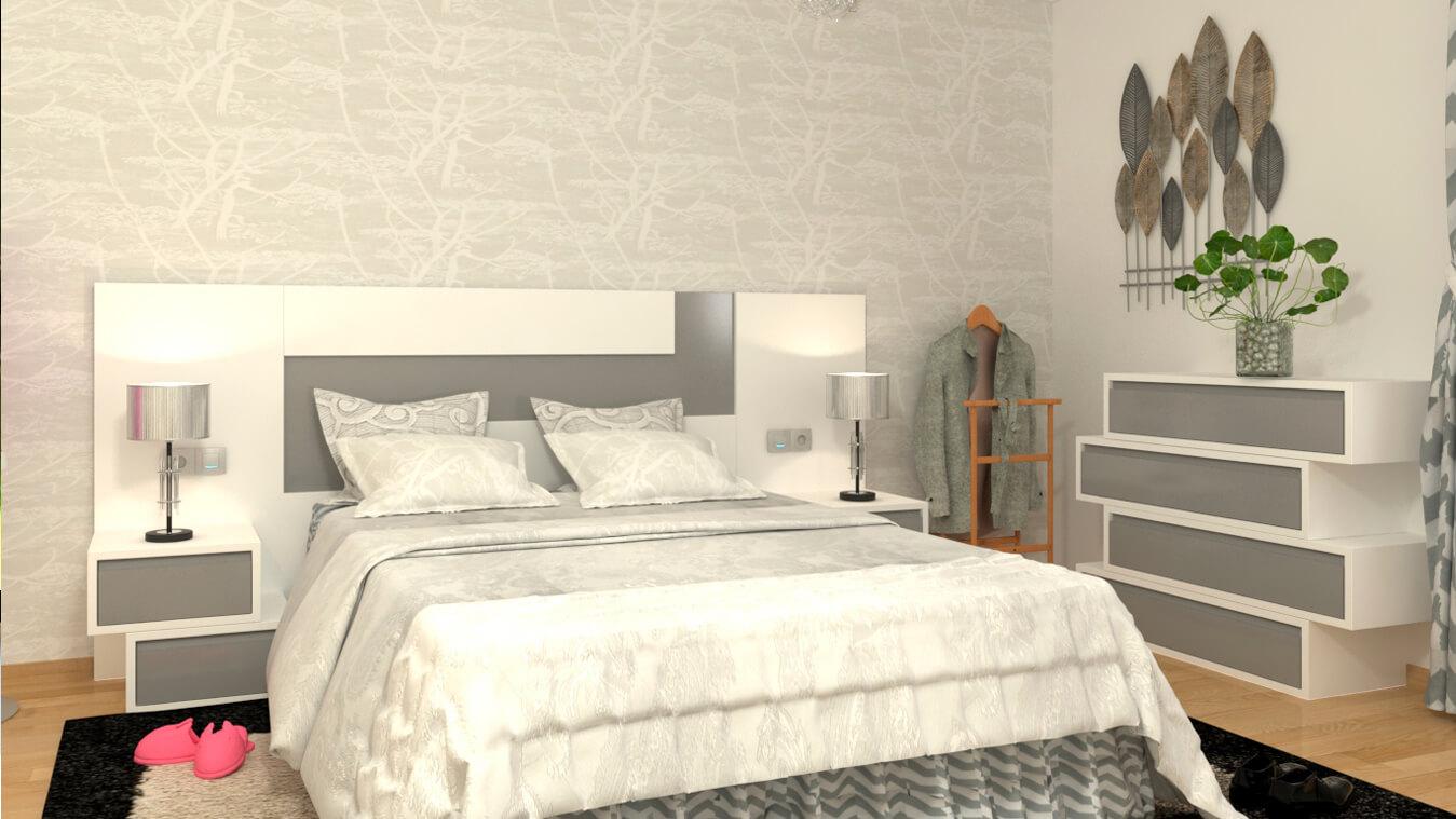 Dormitorio modelo MODERNO ZETA - Ref: 0003