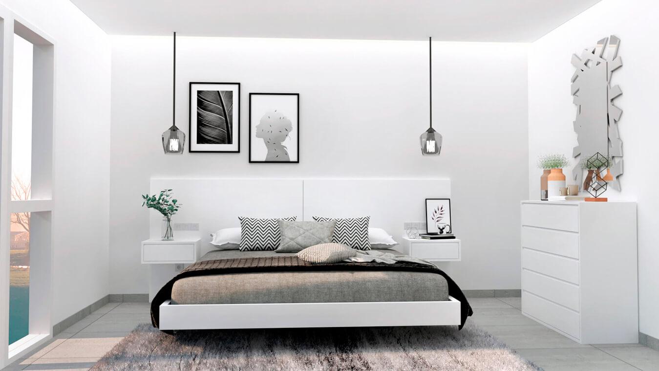 Dormitorio modelo MODERNO - Ref: 0001