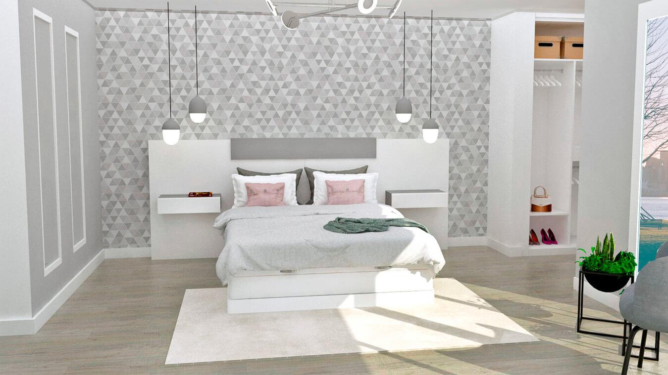 Dormitorio modelo MODERNO - Ref: 0019