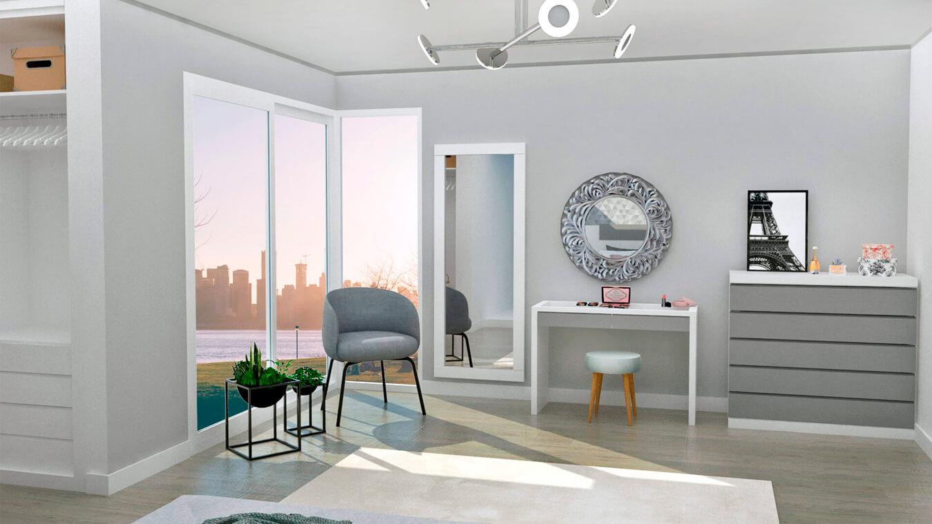 Dormitorio modelo MODERNO - Ref: 0013