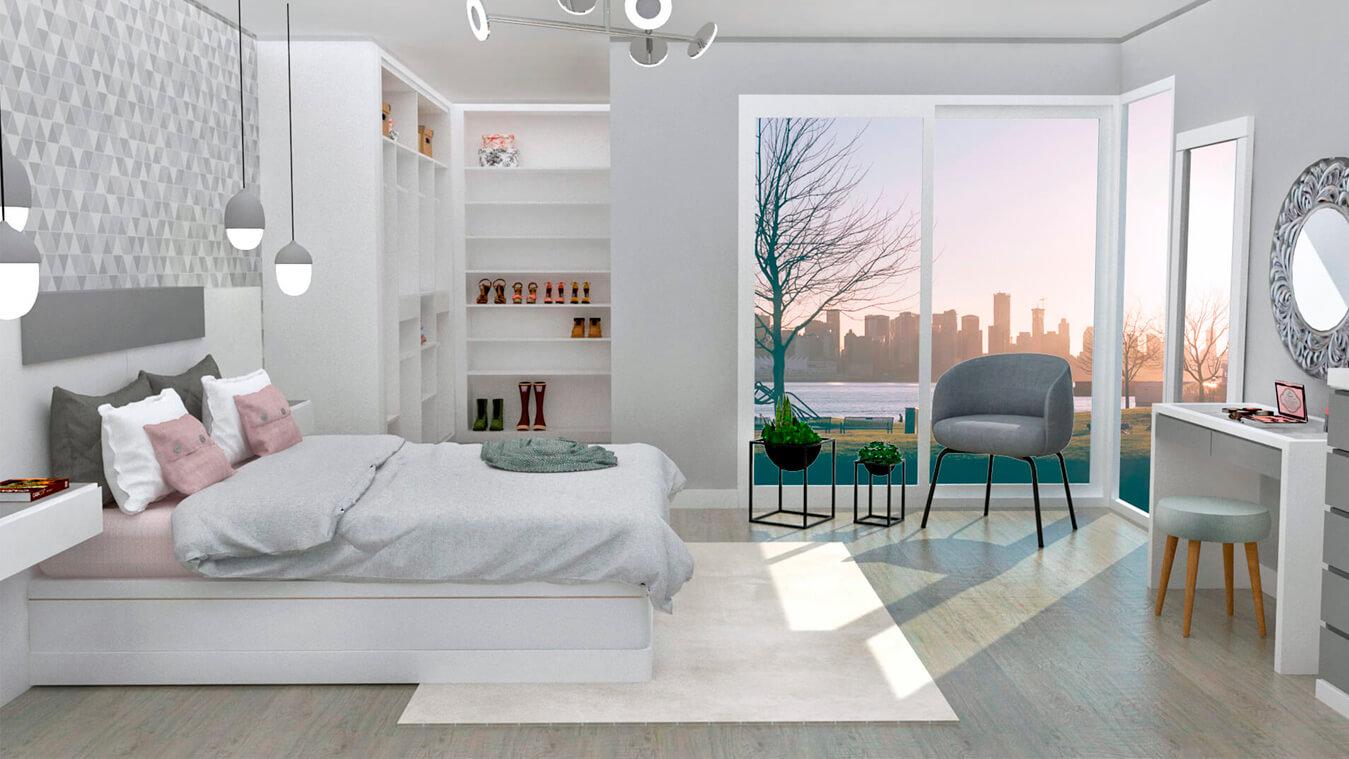 Dormitorio modelo MODERNO - Ref: 0004