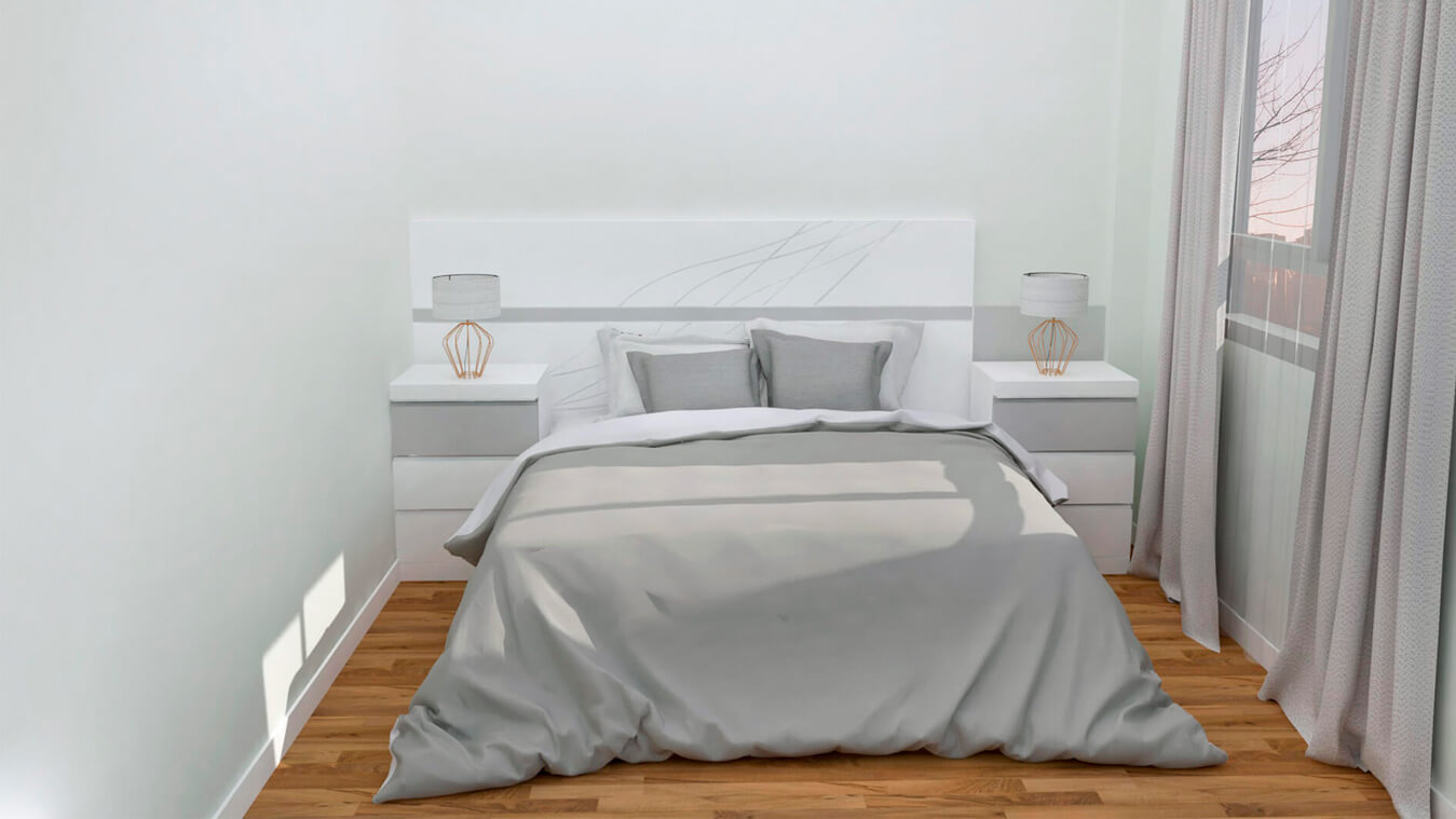Dormitorio modelo MODERNO - Ref: 0009
