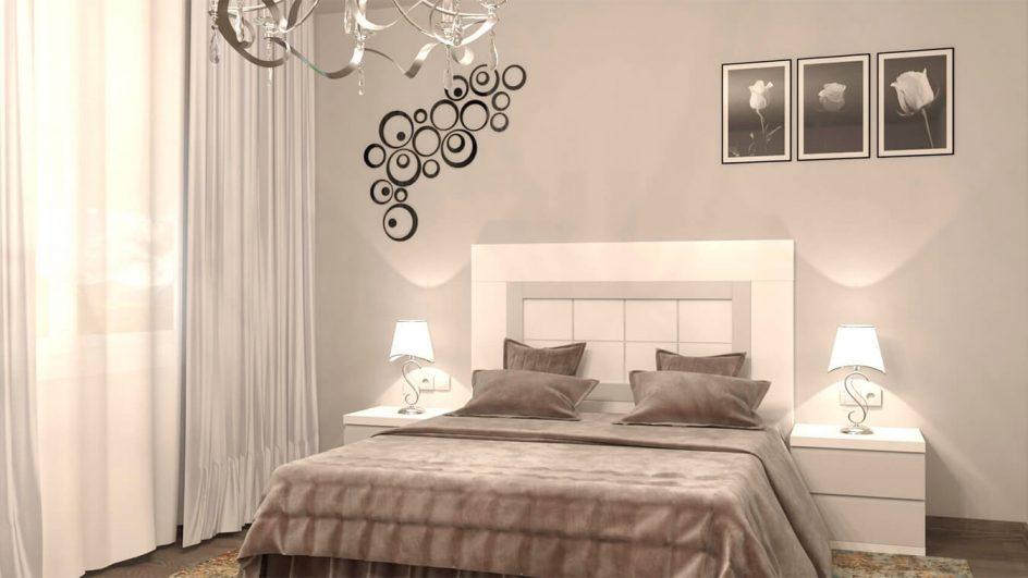 Dormitorio GRANITO NUEVO Blanco y Gris Claro Ref. 0011