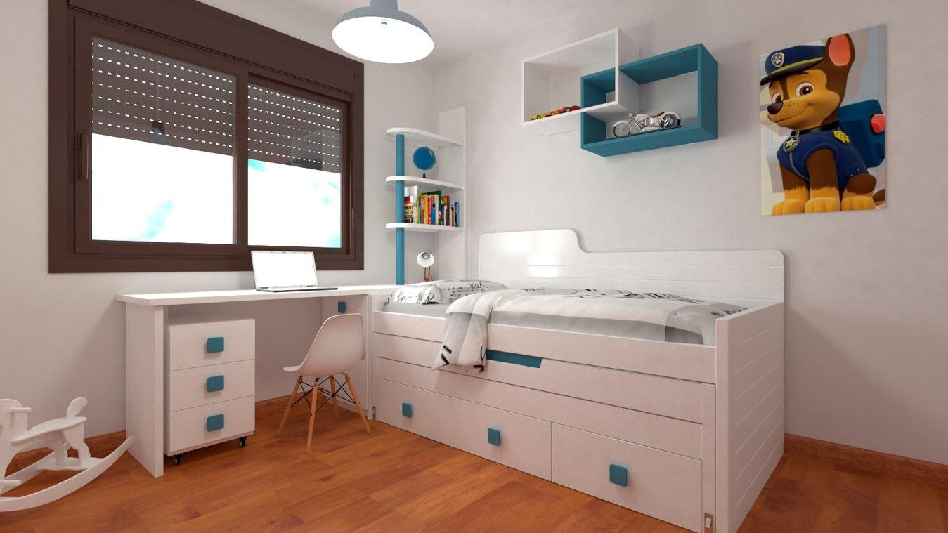 Dormitorio Juvenil COMPARTO - Ref. 0053