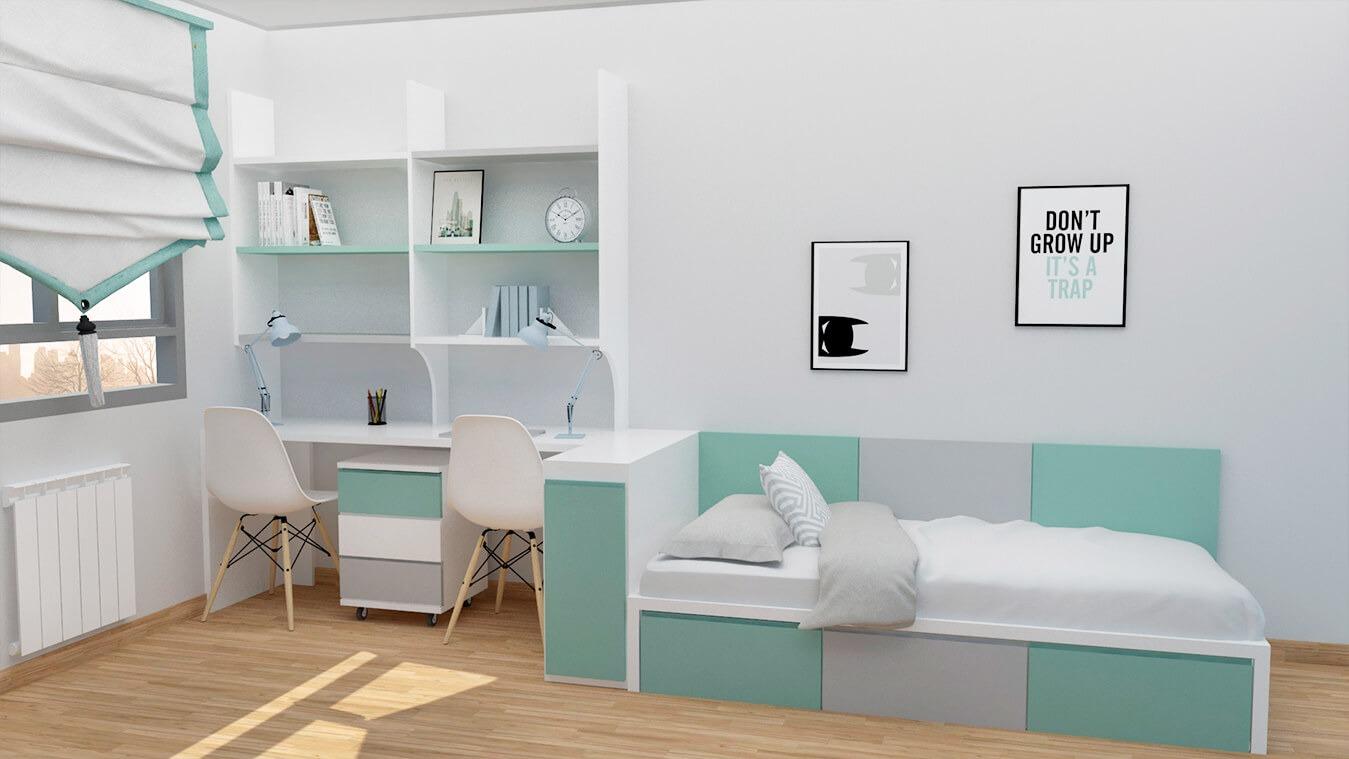 Dormitorio Juvenil TATAMI - Ref. 0008